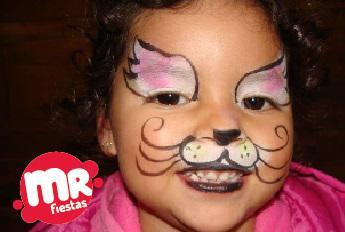 Pintacaritas para fiestas infantiles en Puebla