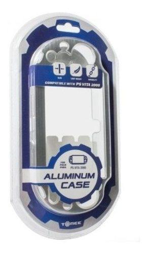 Tomée Aluminio Cubierta De La Caja De Plata Sony Ps Vita