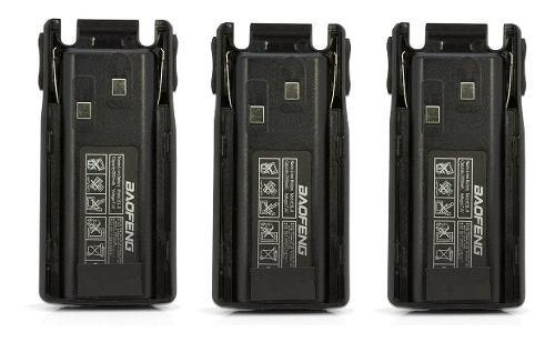 Tres Bateria Pila 2800 Mah Radio Baofeng Uv-82