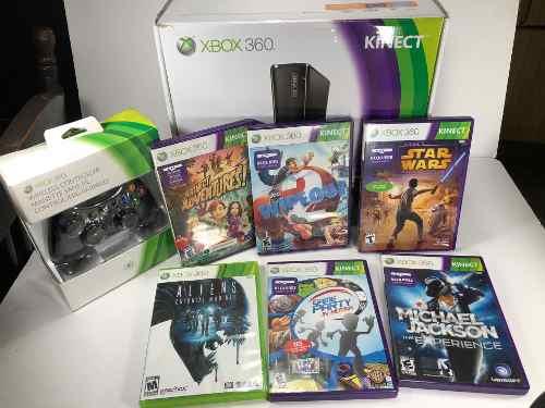 Xbox 360 Kinect 4gb Un Par De Usos + 6 Juegos + Control Ext.