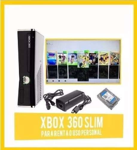 Xbox 360 Slim Con Rgh 65 Juegos Incluidos Envío Gratis!!