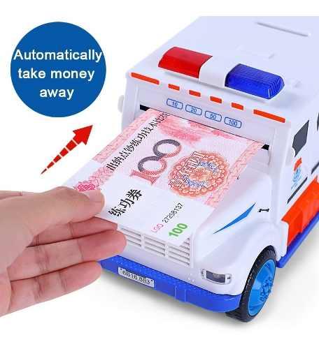 Alcancia De Camión Con Luz Y Sonido Para Billetes Y Monedas