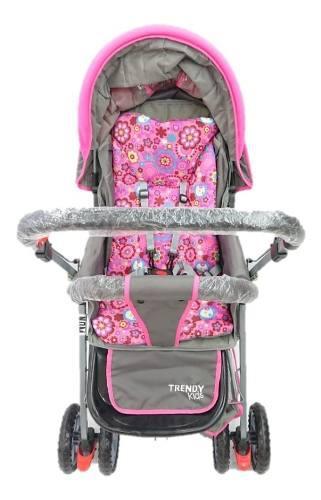Carriola Para Bebé Reversible Trendy Kids Sonic Rosa Nueva