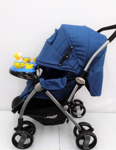 Carriola Para Bebe Angelin Con Tablero Musical 555j Azul