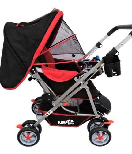 Carriola Para Bebe Angelin Reversible Rojo 555a