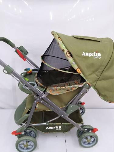 Carriola Para Bebe Angelin Reversible Verde 555a