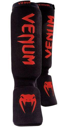 Espinilleras Negro Con Logo Rojo Mma Y Muay Thai