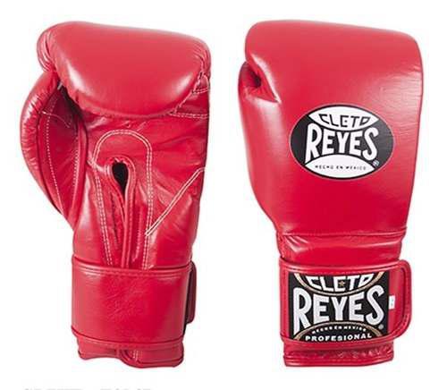Guantes De Box Cleto Reyes Cierre De Contacto Rojos 16 Oz.
