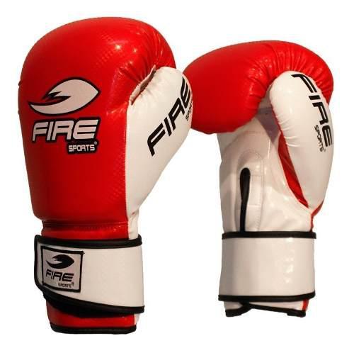 Guantes De Box Fire Sports Pvc Kick Boxing 12oz Y 14oz Rojo