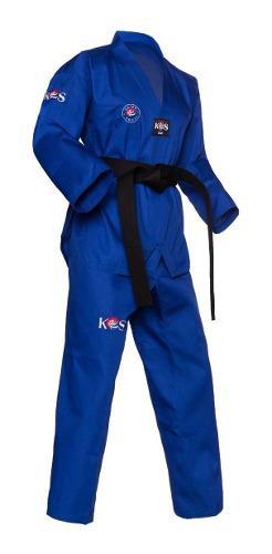 Korea Sport Taekwondo Dobok Champion Azul, Rojo Y Negro