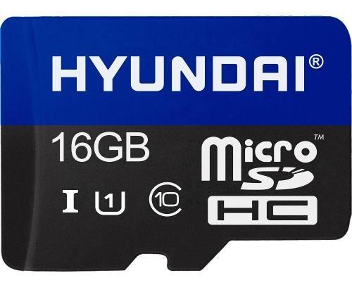 Memoria Micro Sd 16gb Hyundai Clase 10 C/adaptador Celulares