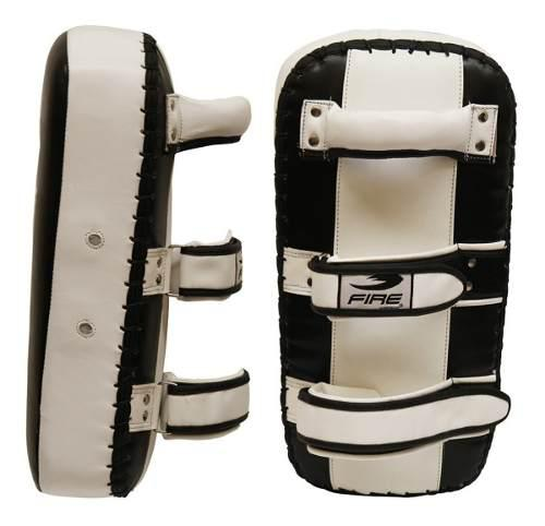 Par Thai Pads 100% Piel Fire Sports Box Mma Planos Blancos