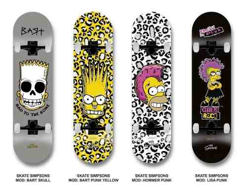 Patineta Completa The Simpsons 100% Original Con Regalo