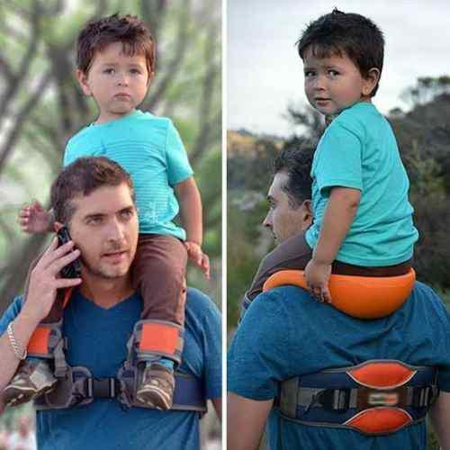 Porta Bebe/niño Asiento Para Hombros Baby