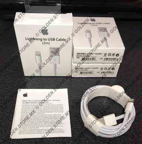 Cable Lightning Original 2 Metros iPhone iPad Mac Mayoreo!