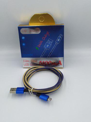 Cable Micro Usb V8 2a Uso Rudo Y Calidad + Caja - Mayoreo