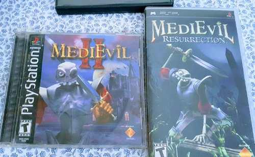 Juego Ps1 Medievil 2 Y Medievil Resurrection Psp
