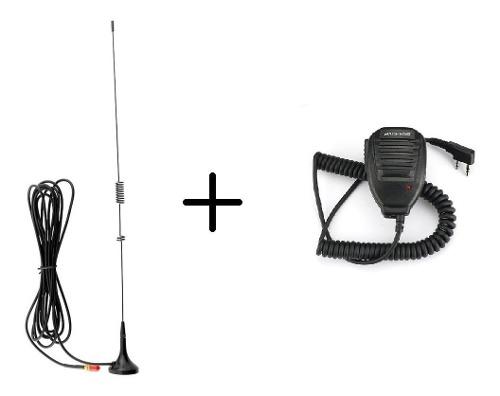 Kit Microfono Baofeng + Antena Para Automovil M. S. I.