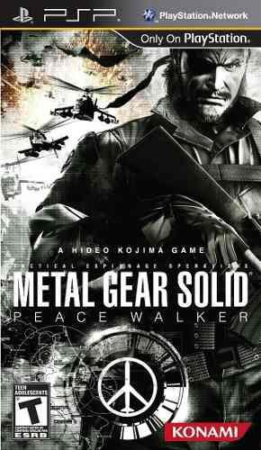 Metal Gear Solid Peace Walker Juego De Psp, Android O Pc