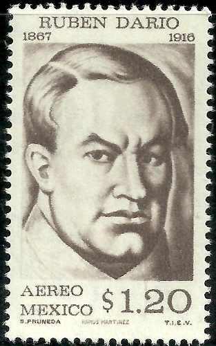 Rubén Darío Poeta Nicaragüense Sc C312 Mnh