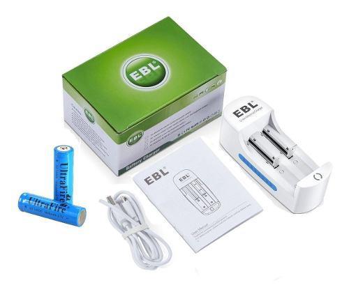 2 Bateria Pila 14500 Ultrafire 1800 Mah + Cargador Ebl