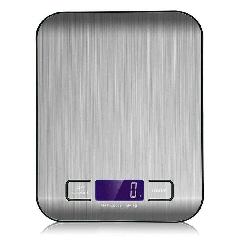 Báscula Digital para Cocina de Acero Inoxidable, 5kg / 11