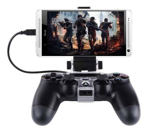 Clip Soporte Holder Control Ps4 Celular +cable Usb Gratis