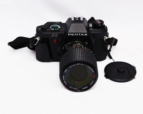 Cámara Análoga Pentax P3 Con Lente Zomm 28.70mm