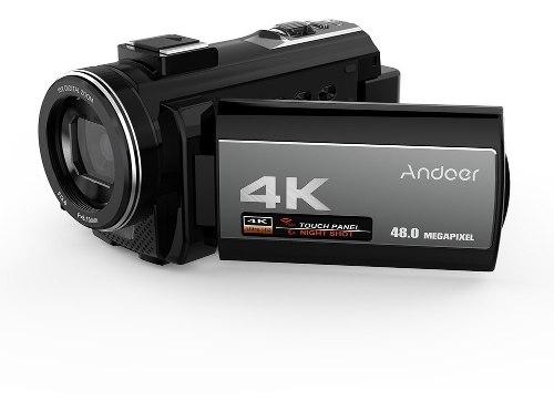Cámara Vídeo Digital Andoer 4k Videocámara Ultra Hd 48mp