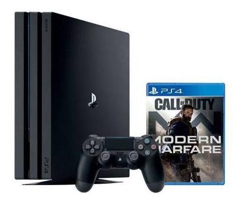 Consola Ps4 Pro + Call Of Duty Modern Warfare Nueva Sellada