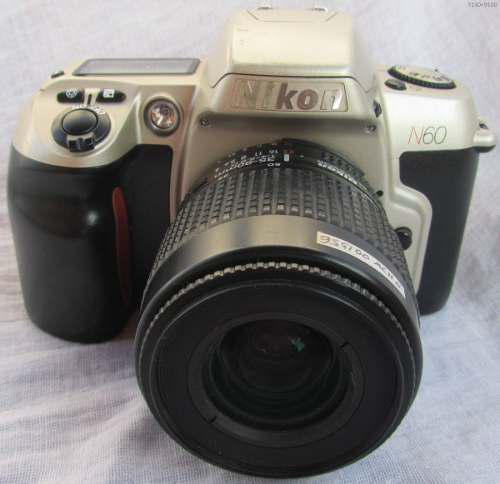 Nikon Cámara N60 Reflex Analoga Con Lente 35-70 Rollo