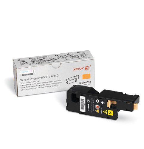 Toner Xerox Phaser 6000 6010 6015 Original 106r01633 Yellow