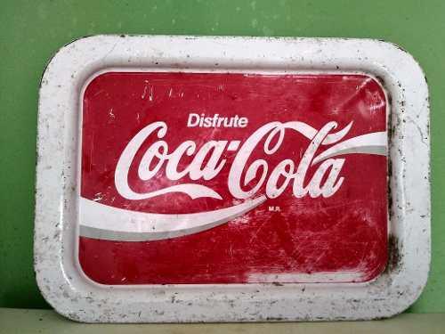 Antigua Charola De Cocacola Lamina De Coleccion De Coca Cola