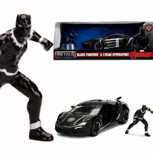 Avengers Marvel Black Phanter & Lykan Hyperspot Jada 1:24