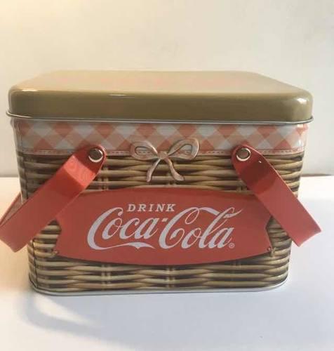 Canasta Coca Cola Caja Metálica Vintage