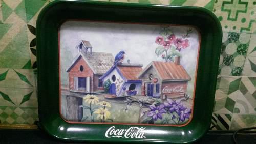 Charola Antigua Coca Cola Coleccionable. Pajaros 1997
