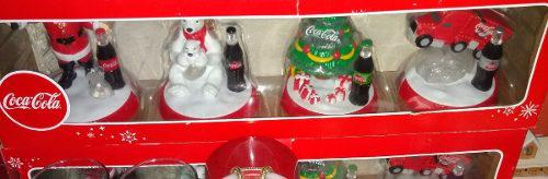 Coca Cola Decorines Pack De 4 Nuevo Aprovecha!!!