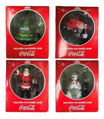 Decorin Navideño Coca Cola 4 Fig 2016 Cocacola Con Luz