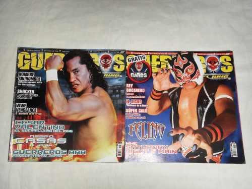 Guerreros Del Ring Negro Casas El Felino Lote De 2 Revistas