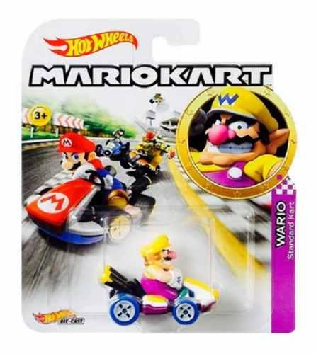 Hot Wheels Wario Standar Kart De La Serie Mario Kart
