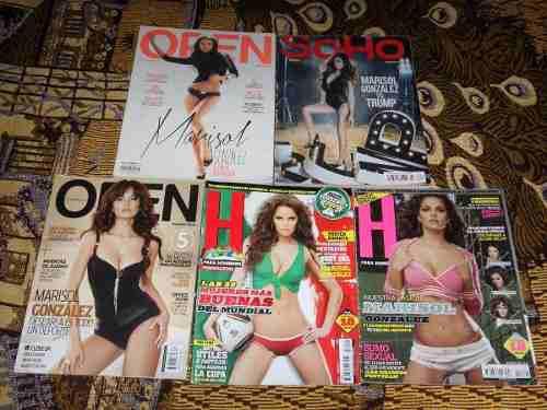 Marisol Gonzalez Lote De 5 Revistas (h, Open Y Soho)