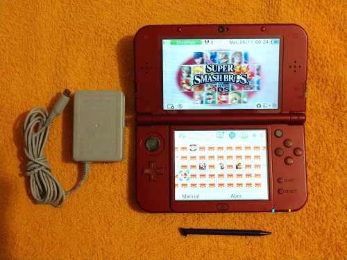 New Nintendo 3ds Xl Rojo 64gb Con 66 Juegos Cia Envio Gratis