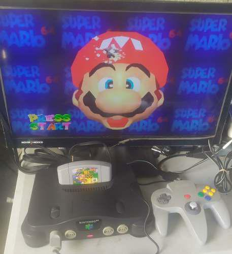 Nintendo 64 Con Mario 64, Control Y Cables