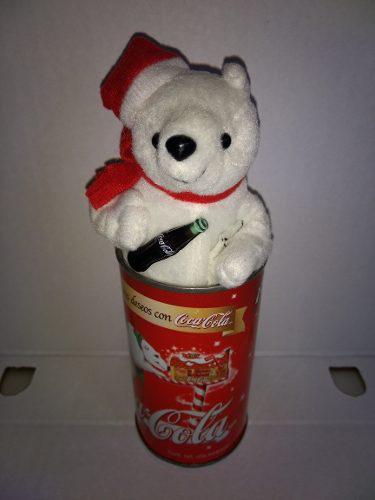 Osito En Lata Antiguo Coca Cola Original Usado