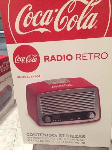 Radio Retro Coca Cola Con 36 Latas De Refresco
