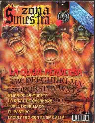 Zona Siniestra, No 18, Terror 2001,32 P Color Y B/n. Cuidada