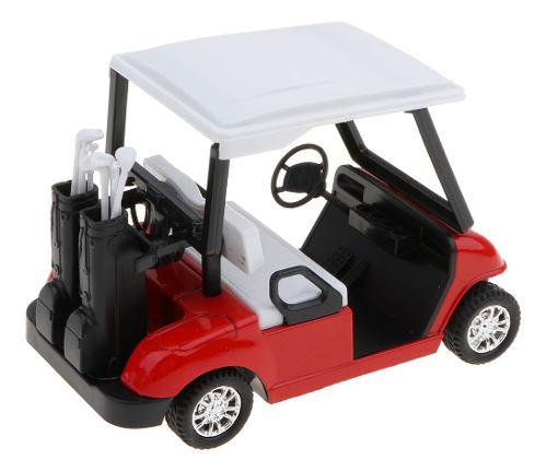 1:20 Mini Carro De Golf De Extracción Aleación Con Palos