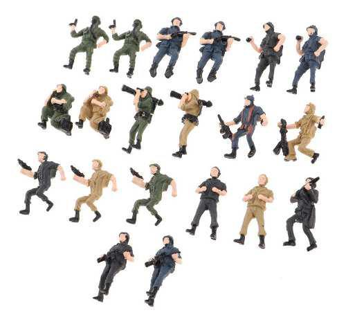 20 Piezas Simulación Militar Figuras Modelo Soldados