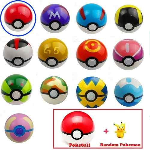 Pokebola 7cm + Pokemon Random Pokeball Pokebolas Pikachu