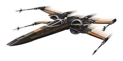 Star Wars Hot Wheels X Wing Poe Dameron Metal Mattel